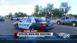 Police continue to search for suspect in officer-involved shooting