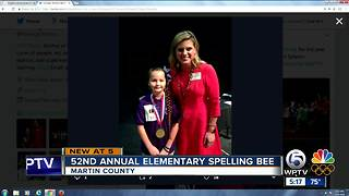 9-year-old girl wins Martin County spelling bee - Video