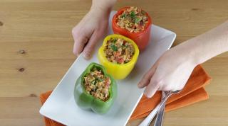 Zesty Stuffed Bell Peppers - Video