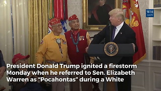 Trump Sparks Firestorm for Calling Elizabeth Warren 'Pocahontas,' Now Huckabee Has a Question for Disney President - Video
