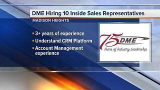 Workers Wanted: DME hiring sales representatives - Video