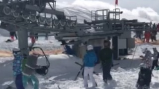 Skiers Panic After Being Thrown From Malfunctioning Ski Lift - Video