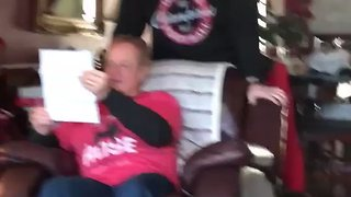 Georgia Bulldogs Fan Breaks Down After Son Surprises Him With Playoff Ticket - Video