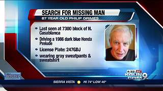 Search for vulnerable, missing man underway - Video