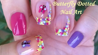 Butterfly Summery Nail Art Tutorial - Video