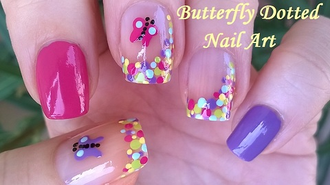 Butterfly Summery Nail Art Tutorial