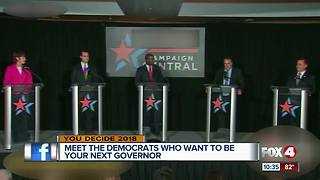 Democratic candidates for governor square off - Video