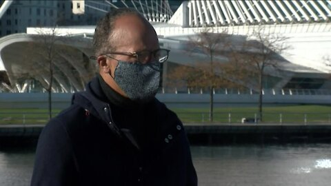 Lester Holt visits Milwaukee to speak with voters prior to the election