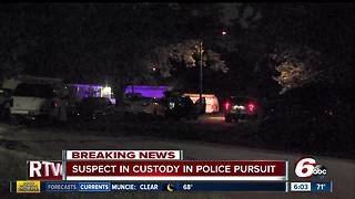 Suspect in Lawrence police chase shot by police, arrested - Video