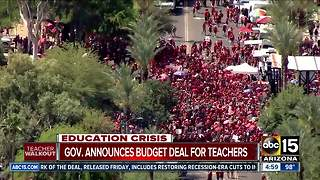 Arizona Education Association responds to Governor Ducey's budget deal announcement - Video