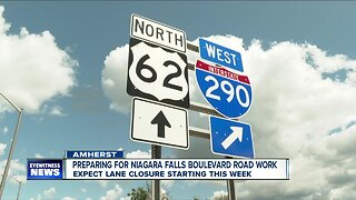 Preparing for Niagara Falls Boulevard Road Work