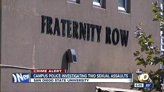 SDSU Campus Police investigating two sexual assaults - Video