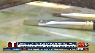 Plein Air Painting Festival held for the fourth year, artists paint landscapes around Kern County