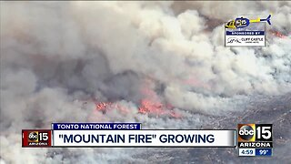 Mountain Fire burning between Horseshoe and Bartlett lakes