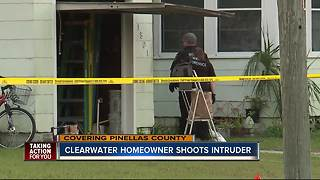 Homeowner shoots intruder in Clearwater, causing life-threatening injuries