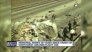 Memorial marks 30 years since crash of Northwest Airlines Flight 255 - Video