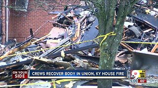 Crews recover body in Union, Kentucky house fire