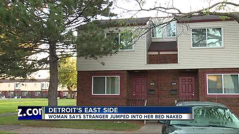 Stranger jumps into woman's bed in Detroit