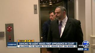 Dancing FBI agent accused of shooting man at Denver bar appears in court, posts bond - Video