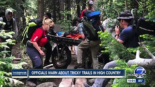 Colorado officials warn hikers of tricky trails in High Country
