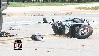 Accident involving truck, mopeds on MSU campus - Video