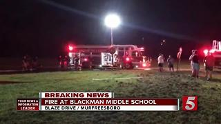 Fire Damages Building At Blackman Middle School - Video