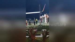 Lion Air plane smashes into electricity pole a week after deadly Indonesia crash