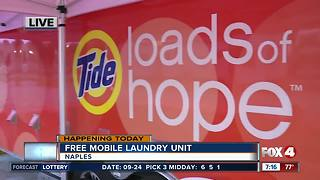 Mobile laundry unit open in Naples Monday - Video