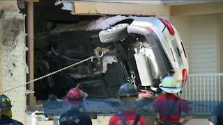 Person drives car into Wauwatosa home after losing control