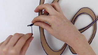 DIY Yarn Wrapped Wall Art - Video
