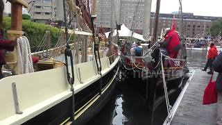 Classic Boat Festival at St. Katharine Docks, London - Video