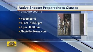 Active shooter training classes offered Hernando