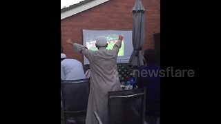 Agony and ecstasy: British Muslims watch nail-biting England penalties - Video