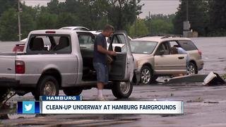 Clean up continues at Hamburg Fairgrounds - Video