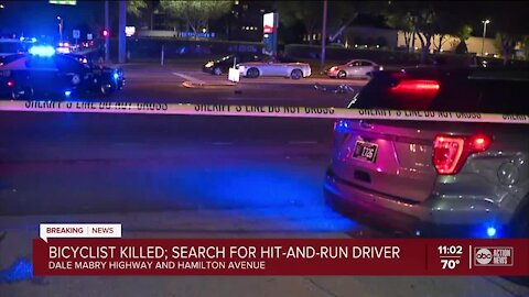 Bicyclist killed in hit-and-run in Hillsborough County, deputies say