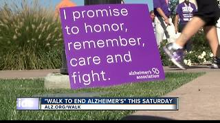 Alzheimer's Walk this Saturday - Video