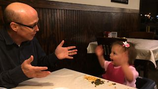 Baby Has Hilarious Argument With Dad - Video
