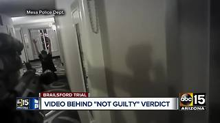 Ex-Mesa police officer found not guilty of second-degree murder (Warning: Graphic content) - Video