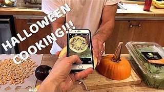 Dad Whips Up a Spooktacular Omelet for Halloween - Video