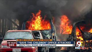Save The Children office attacked - Video