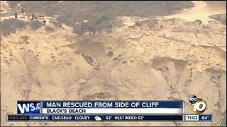 Man rescued from side of cliff - Video