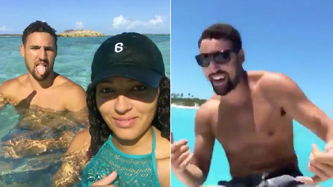 Klay Thompson Spotted with ANOTHER Baddie, Goes Dancing on a Boat