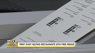 Northeast Ohio printing company offers free take-out menus for local restaurants