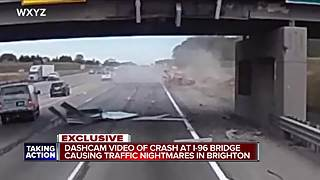 Dashcam video of crash at I-96 bridge causing traffic nightmares - Video