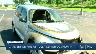 Cars set on fire at Tulsa senior community