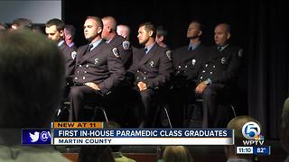 First Martin County  paramedic class graduates - Video