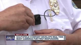 Southfield company develops real time body cameras for first responders - Video