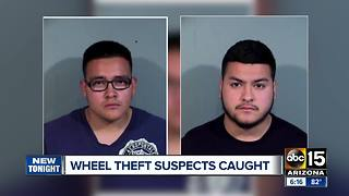 Paradise Valley police arrest suspected wheel thieves - Video