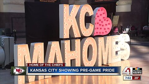 Kansas City lights up ahead of Chiefs game
