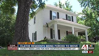 Olathe residents being forced to move for parking lot - Video